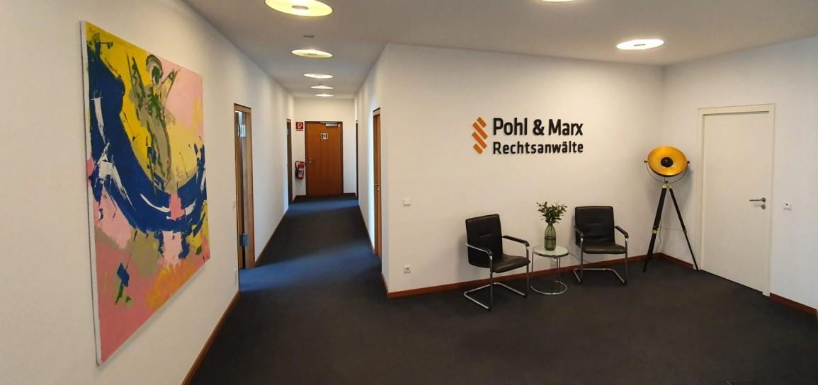 Kanzleiräume der Rechtsanwälte Pohl und Marx in Berlin.